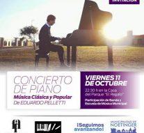 El concertista de piano Eduardo Pelletti se presenta en Noetinger