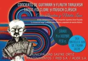 Sastre: Concierto de Guitarra y Flauta Traversa. Tango, Folclore y Música Clásica