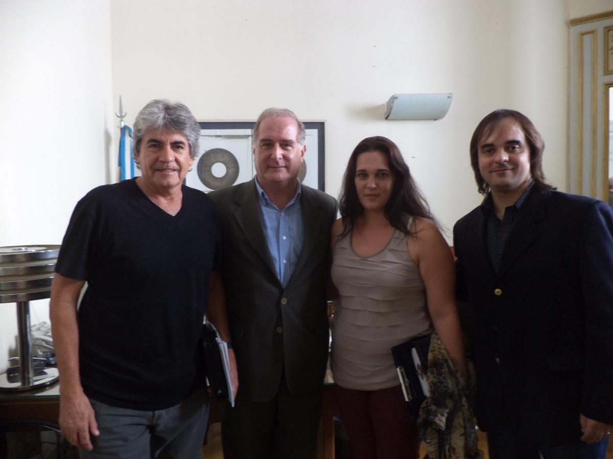 El Director Nacional de Artes recibió a integrantes del Ente Cultural
