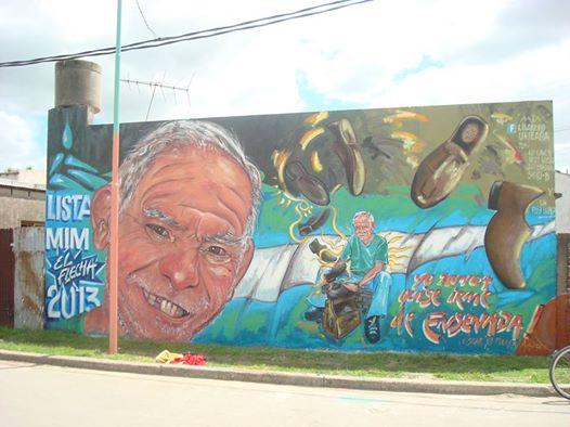 Los Cardos recibe al muralista Lisandro Urteaga