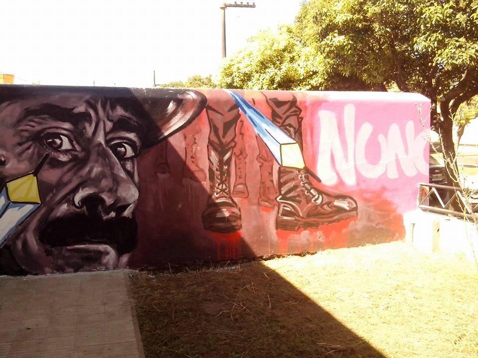 Los Cardos: Se desarrollaron los murales junto a Lisandro Urteaga