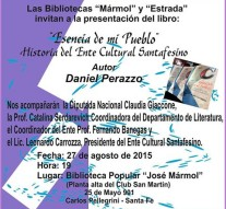 """El Libro """"Esencia de mi Pueblo"""" se presenta en Carlos Pellegrini"""