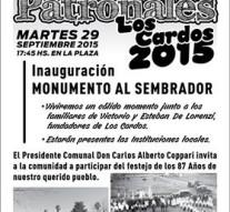 Se inaugura en Los Cardos el monumento al «Sembrador»