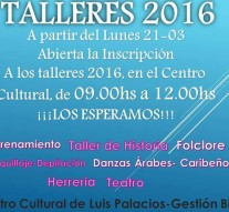 """Abierta la inscripción a los """"Talleres 2016"""" en Luis Palacios"""