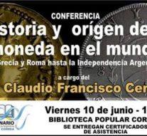 """Correa: Conferencia """"Historia y orígen de la moneda en el mundo"""""""