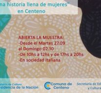 """La muestra """"Mujeres 200 años"""" llegó en su gira provincial a Centeno"""