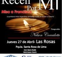 """""""Recen por mí"""", una obra dedicada al Papa Francisco inicia su gira santafesina en Las Rosas"""