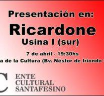 """El """"Plan 2017"""" del Ente Cultural Santafesino se presenta en Ricardone"""
