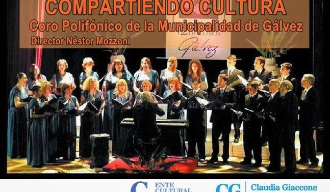 """""""Compartiendo Cultura"""": El Coro Municipal de Gálvez se presenta en Ybarlucea"""