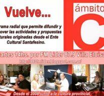 """""""Ámbito C"""" vuelve desde Villa Eloísa a toda la provincia de Santa Fe"""