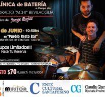 El baterista de Jorge Rojas brindará una capacitación en San Martin de las Escobas