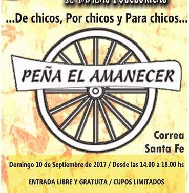 """Peña El Amanecer prepara el """"2° Encuentro infanto-juvenil de Danzas Folklóricas""""."""