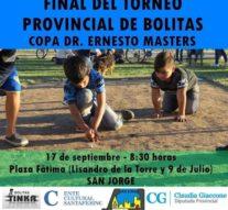 """Llega la gran Final del """"Torneo Provincial de Bolitas"""" a la ciudad de San Jorge"""