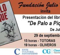 """Totoras y Oliveros reciben a Olga Migno junto a la obra de su padre """"De Palo a Pique"""""""