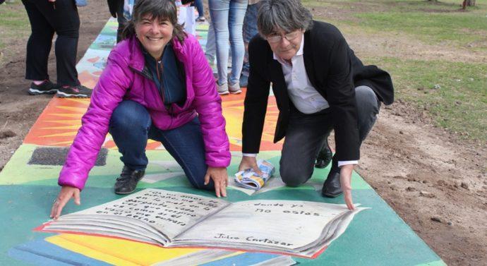 """Se inauguró en El Trébol el bello """"Camino de las Rayuelas"""""""