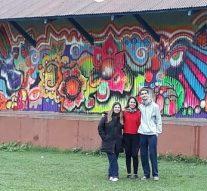Arte en Serodino: jóvenes artistas comenzaron a embellecer la localidad