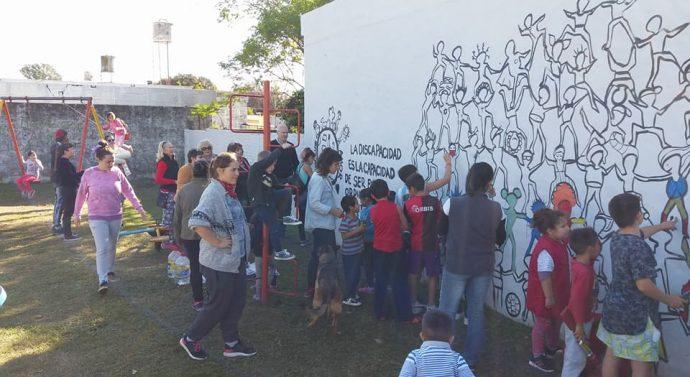 San Jorge: Se pinta de murales en los distintos Barrios