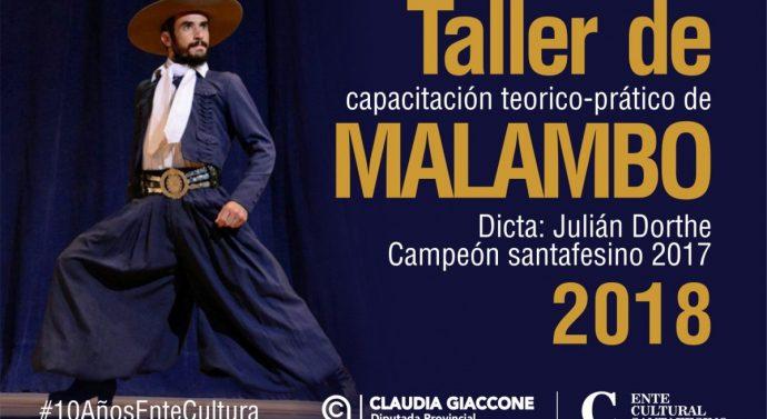 Julian Dorthe (Campeón Provincial de Malambo) brindará Talleres en Ibarlucea y Bustinza