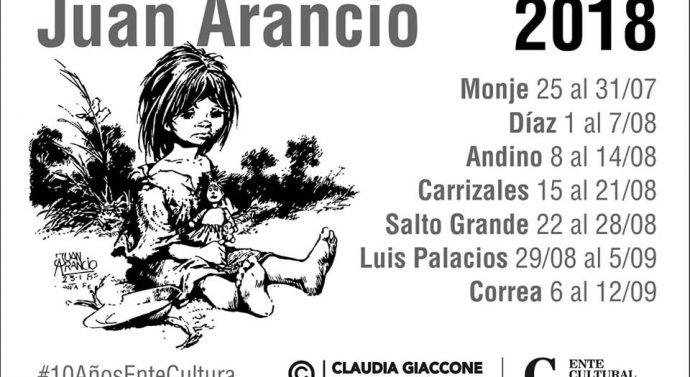 """La muestra """"Juan Arancio, paisaje y corazón de Santa Fe"""" recorrerá las localidades de la Usina I (sur)"""
