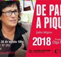 Olga Migno presenta «De Palo a Pique» en Cañada de Gómez y Bouquet