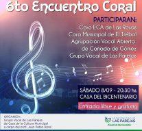 Se desarrollará el 6to Encuentro Coral en la ciudad de Las Parejas