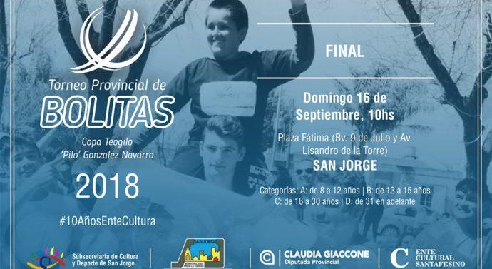 """Llega a San Jorge la gran Final del """"2° Torneo Provincial de Bolitas"""""""