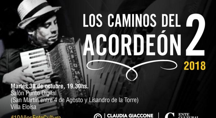 """Hoy se presentan """"Los Caminos del Acordeón 2"""" en Villa Eloísa"""