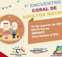 San Jorge: Se desarrollará el «1° Encuentro Coral de Adultos Mayores»