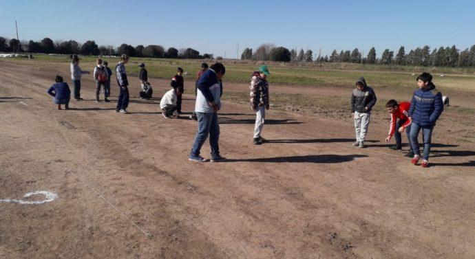 En María Juana se disputó la instancia local del «Torneo de Bolitas