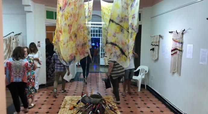 Se inauguró la muestra «Naturaleza en lo textil» en San Jorge