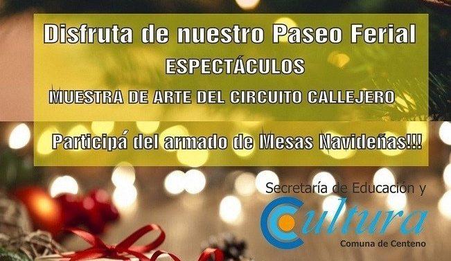 Invitan a la feria navideña 2019 en Centeno