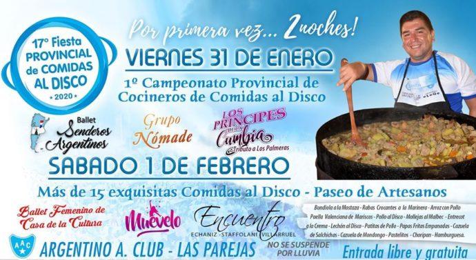 Las Parejas: A horas de la gran «Fiesta Provincial de Comidas al Disco»