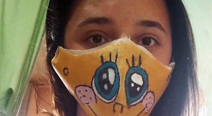 Montes de Oca: jovencita obtuvo 1er. premio en concurso internacional por diseño de un barbijo