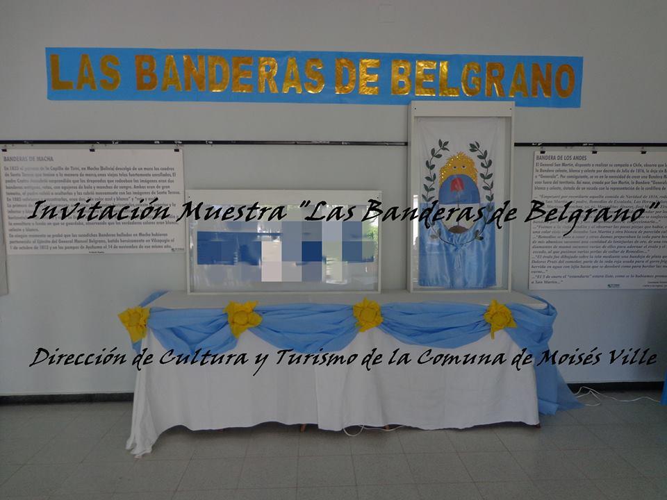 """Apertura de la Muestra """"Las Banderas de Belgrano"""" en Moises Ville"""