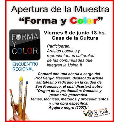 """San Vicente: Este viernes 6 llega """"Forma y Color 2014"""""""