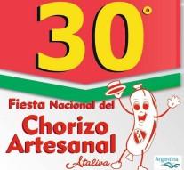 Ataliva: Este sábado llega la 30° Edición de la «Fiesta Nacional del Chorizo Artesanal»