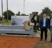 Inauguraron en Pilar, el Monumento al Inmigrante Piamontes
