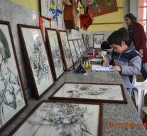 """La muestra de """"Juan Arancio"""" visita la Biblioteca Popular Sarmiento de Santo Domingo"""