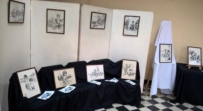 La Muestra de Juan Arancio llegó a la Biblioteca Hector Reinaudi de Lehmann