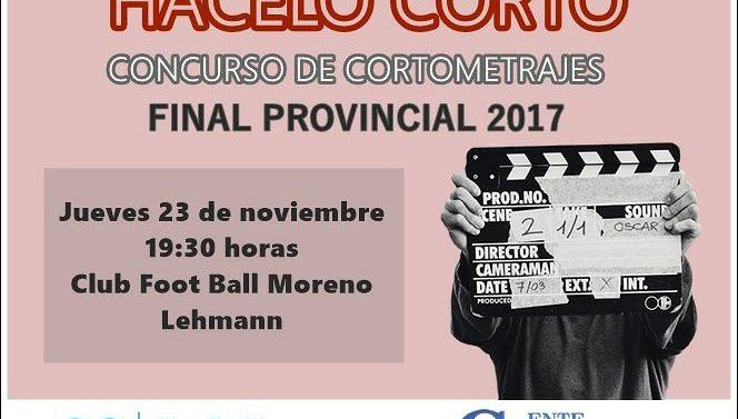 """Llega a Lehmann el 4to Concurso de Cortometrajes """"Hacelo Corto"""""""