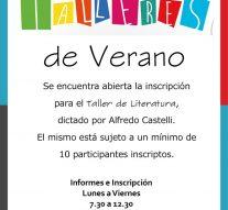 Maria Juana: Se abrieron las inscripciones para los Talleres de Verano