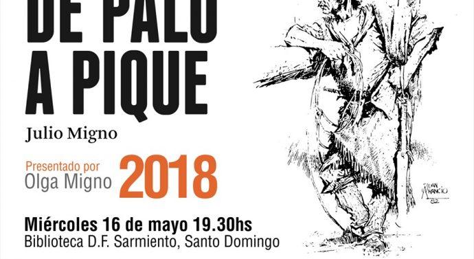 """Olga Migno presentará """"De Palo a Pique"""" en la Biblioteca D.F. Sarmiento de Santo Domingo"""