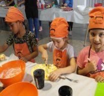 Sarmiento: casi un centenar de niños disfrutaron del Encuentro Cocineritos