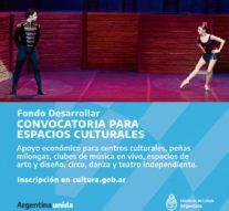 Fondo Desarrollar: apoyo económico para espacios culturales.
