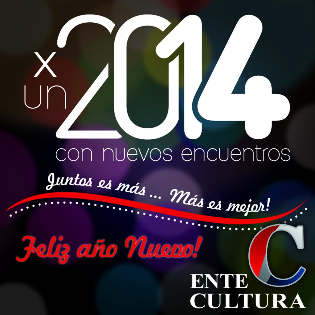 El Ente Cultural Santafesino te desea: ¡Feliz Año Nuevo!