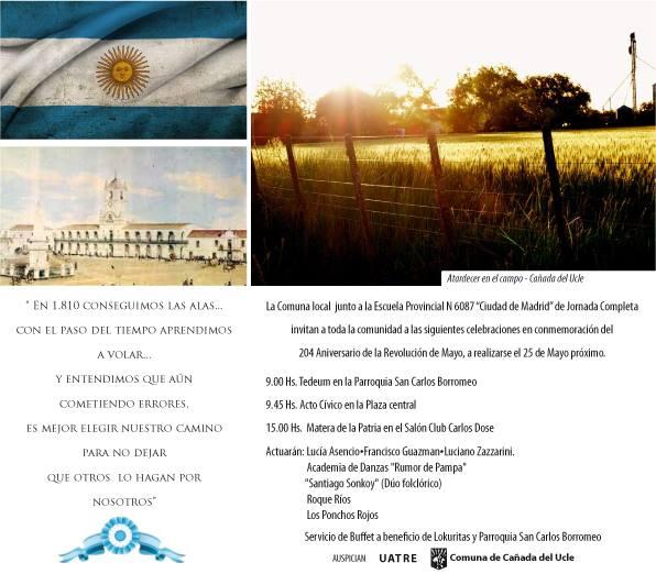Cañada del Ucle: Celebración por el 25 de Mayo