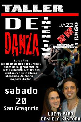 San Gregorio: «Ritmos y Danzas» junto a Lucas Piro