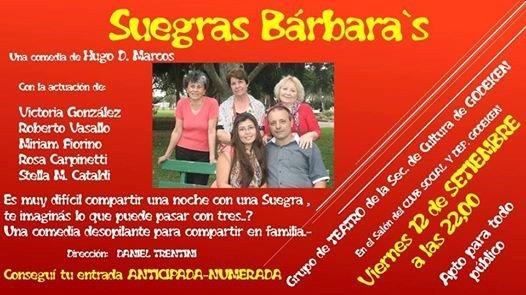 "Gödeken: Se presenta la comedia ""Suegras Bárbara`s"""