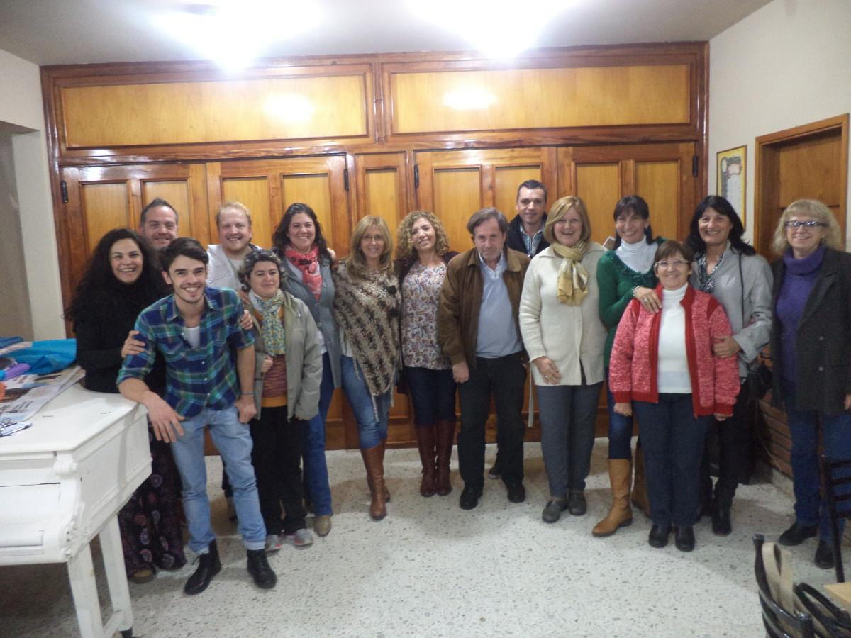 María Teresa recibió a los integrantes de la Usina Cultural III