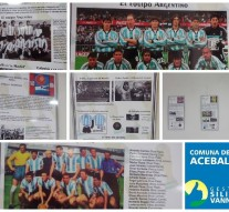 La muestra fotográfica «Historia de los Mundiales» se expone en Acebal